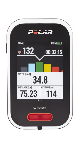 Polar V650 HR Trådløs cykelcomputer + pulsmåler sort